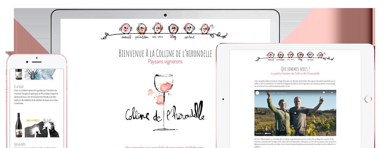 création de site web pour vignerons et domaines viticoles